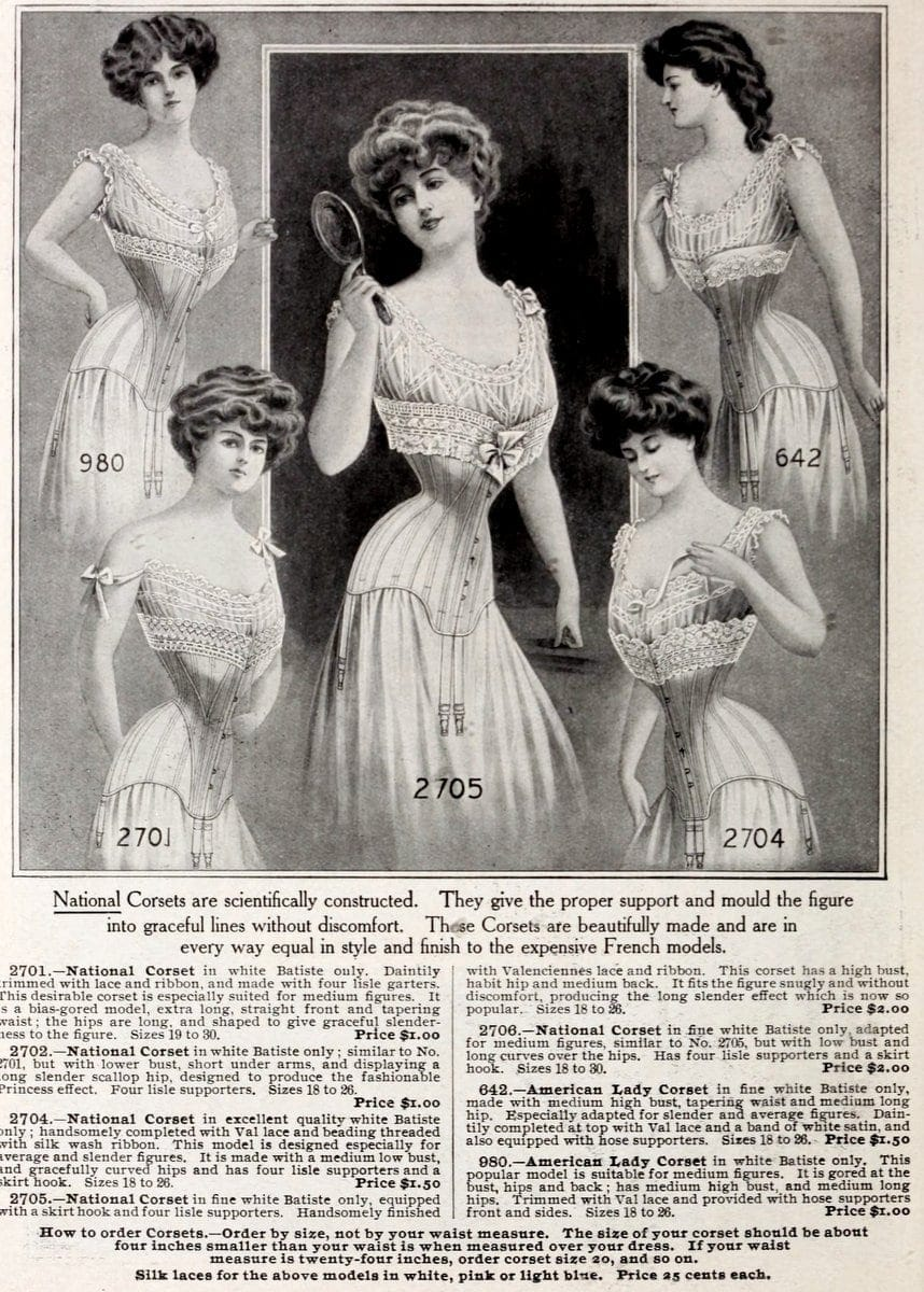 Corset fashions from NYC in 1908