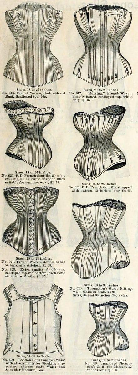 Corsets 1886 B. Altman & Co.