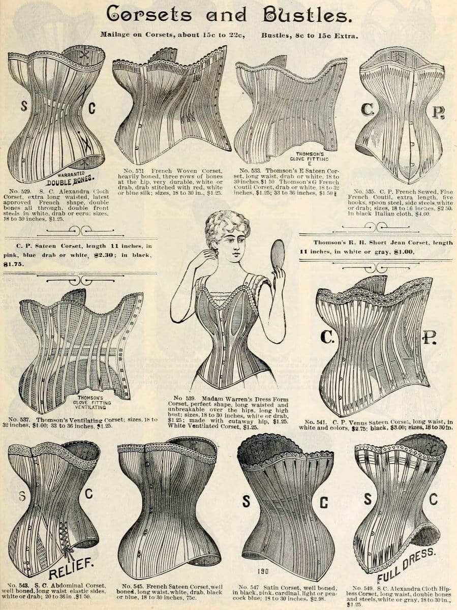 Corsets from fall and Winter 1890-1891 H O'Neill and Co (1)