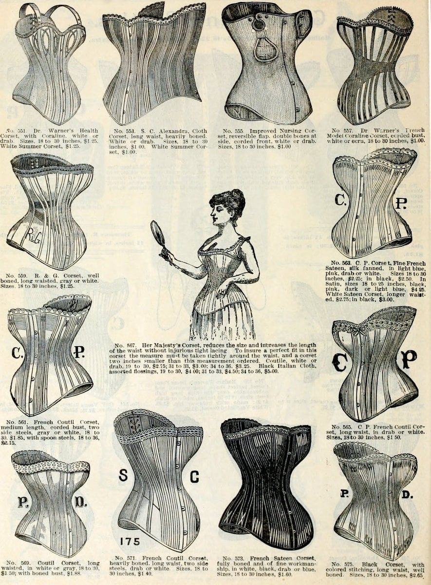 Corsets from fall and Winter 1890-1891 H O'Neill and Co (2)