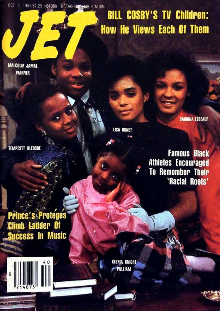 Cosby Show kids on the cover of Jet magazine 1985