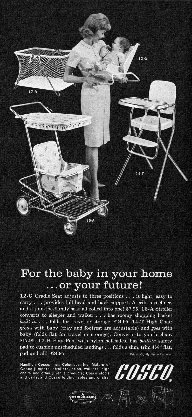 Cosco baby gear from 1963