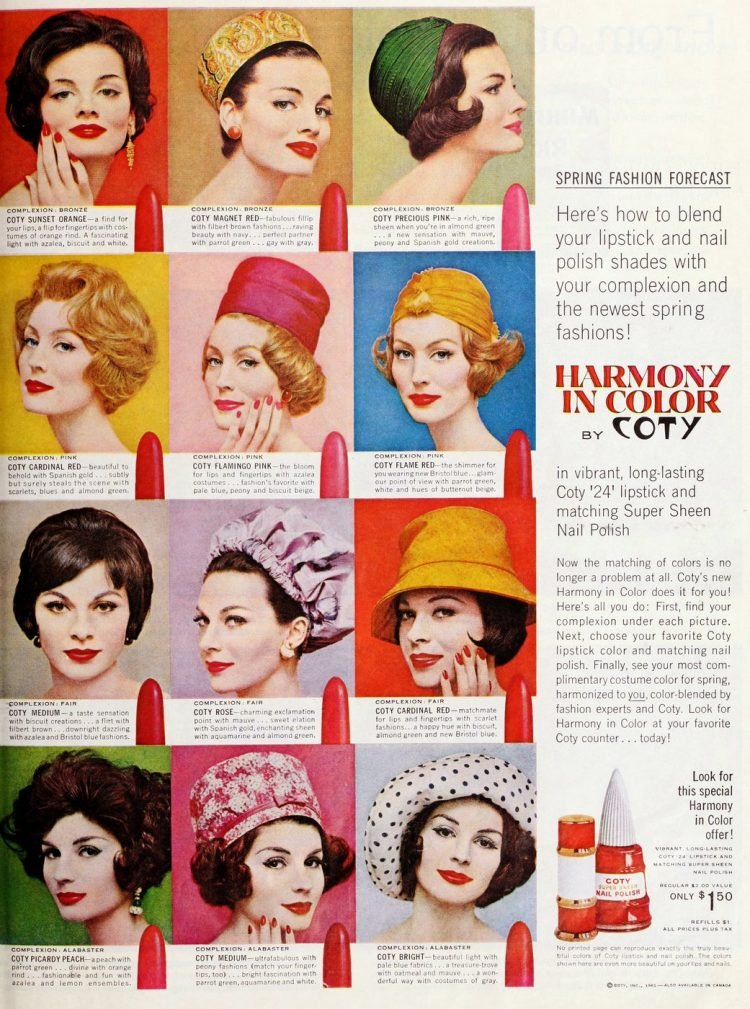 Coty Harmony in Color lipstick from 1961