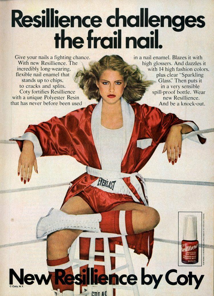 Coty Resillience flexible nail enamel 1979
