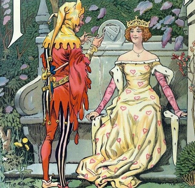 Court jester - Antique image