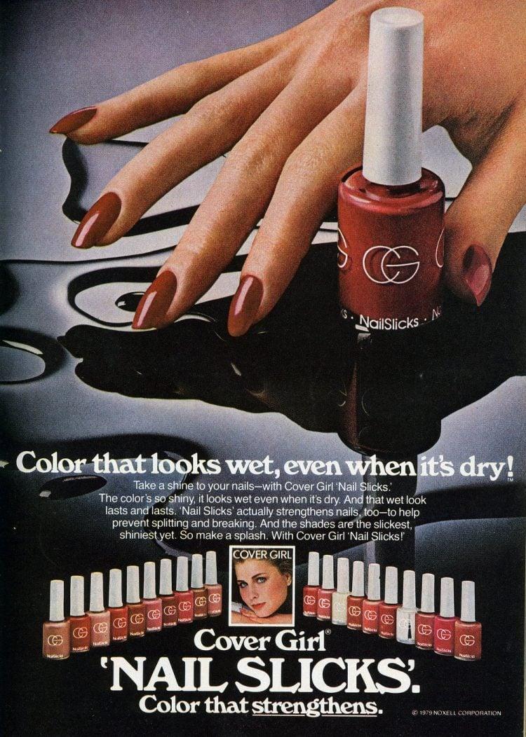 Cover Girl nail slicks - polish from 1979