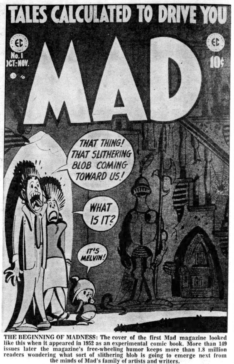 Cover of the first MAD magazine - 1952