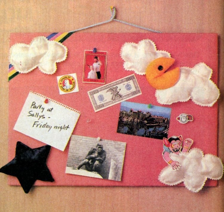 Craft how-to Make a bulletin board for your bedroom 1983