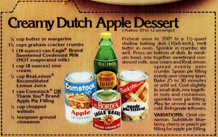Creamy Dutch Apple dessert retro recipe (1)