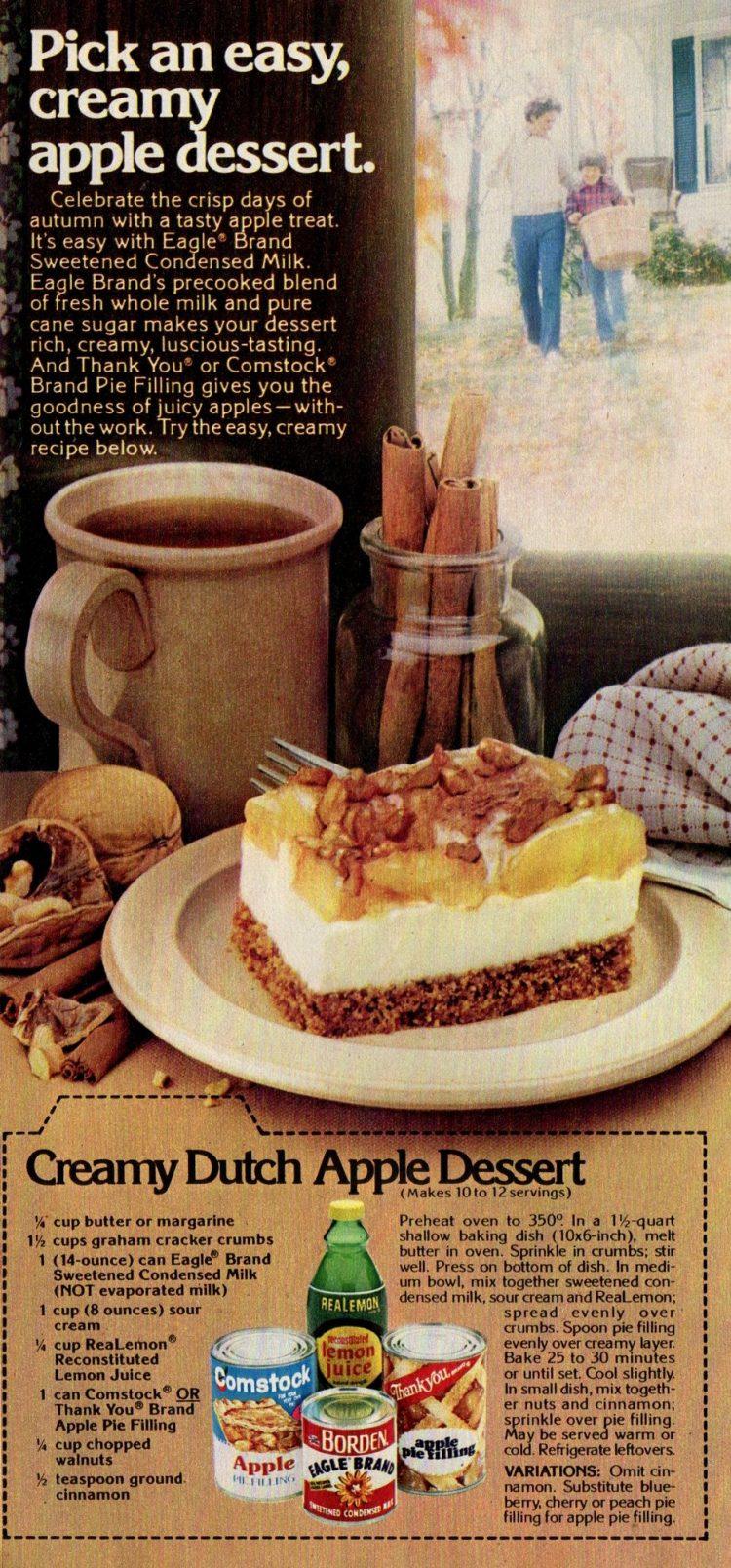 Creamy Dutch Apple dessert retro recipe (2)