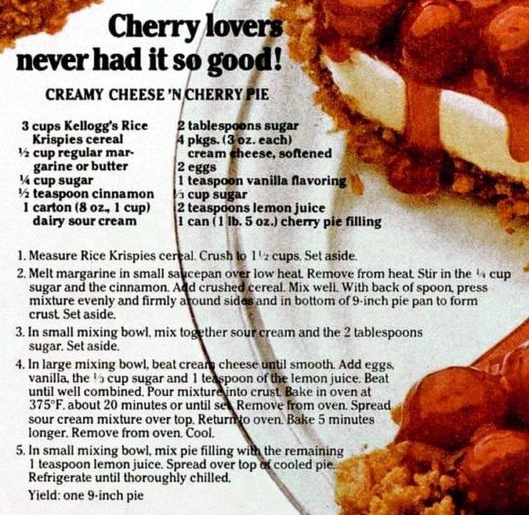 Creamy Cheese 'n Cherry Pie recipe