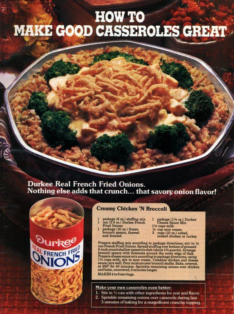 Creamy chicken n broccoli casserole recipe (1986)