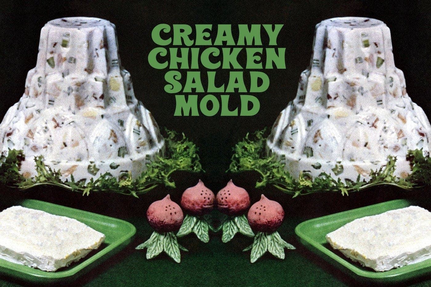 Creamy chicken salad mold
