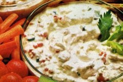 Creamy cottage cheese dip Vintage recipe from 1972