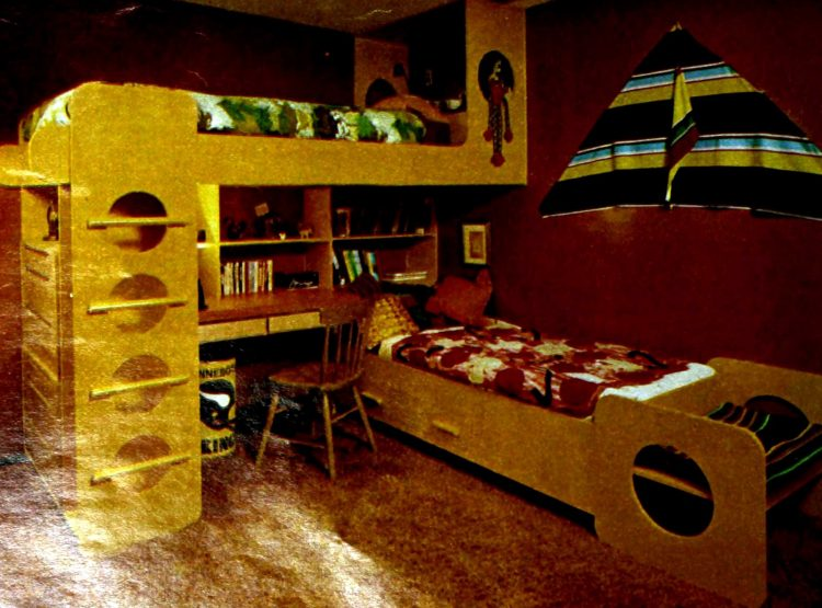 Creative bunk beds and desk (1978)