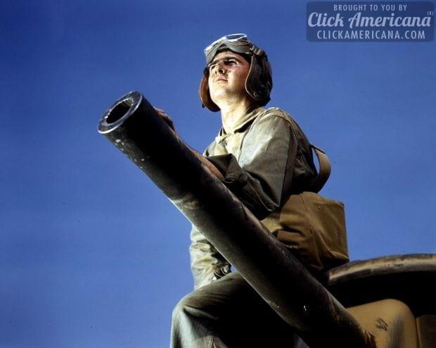 Crewman of an M-3 tank, Ft. Knox, Ky