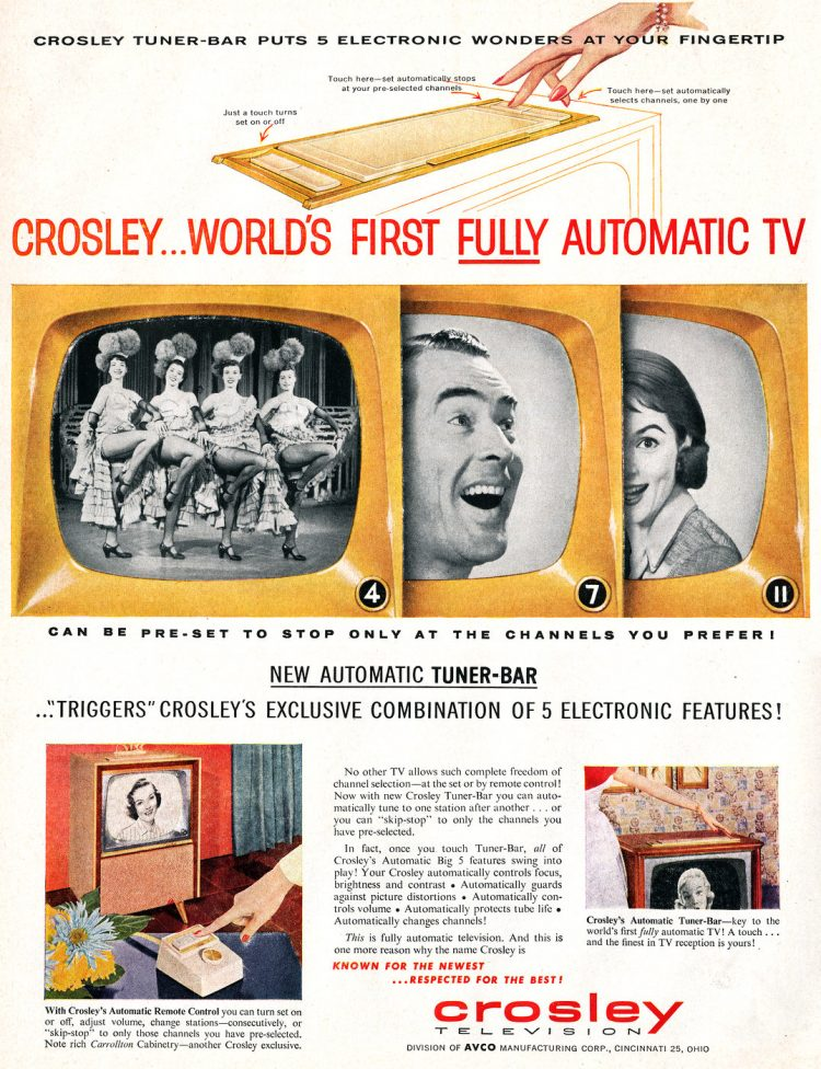Crosley automatic TV from 1956