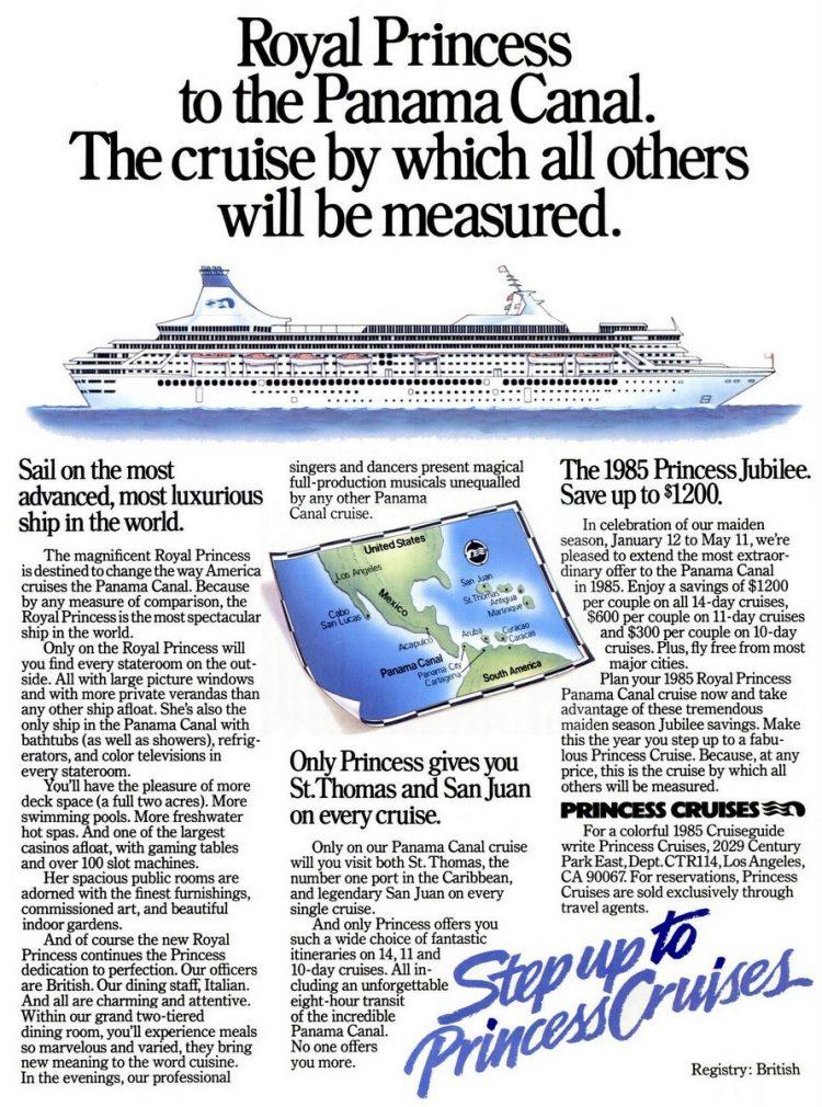 Cruise Travel Dec 1984 Princess Cruises