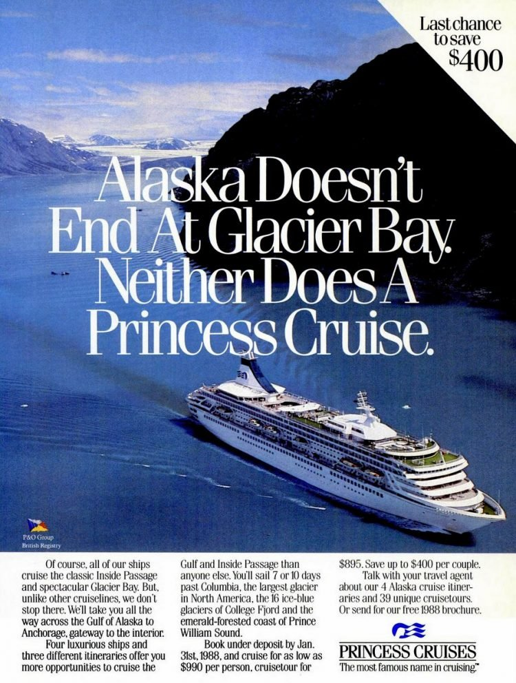 Cruise Travel Jan 1988 Princess Alaska