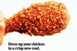 Crunchy Double-Coated Chicken Supreme, made with Rice Krispies (1976)