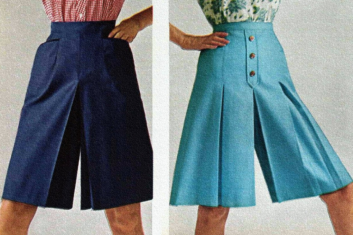1960s Culottes for women - Vintage fashion
