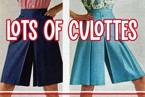Culottes for women - Vintage fashion
