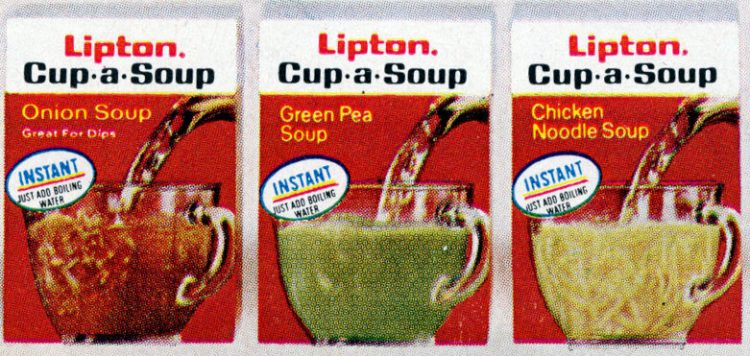 Cup-a-Soup debuted in 1972, and became a super-quick lunchtime staple (1973)