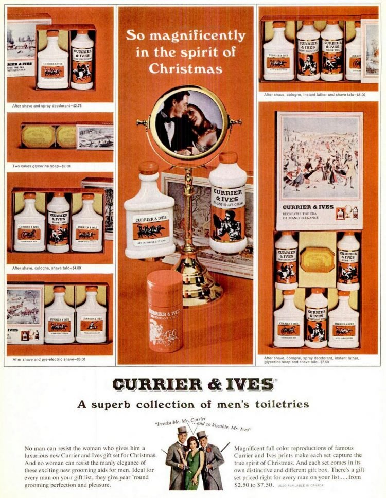 Currier and Ives gift set 1965