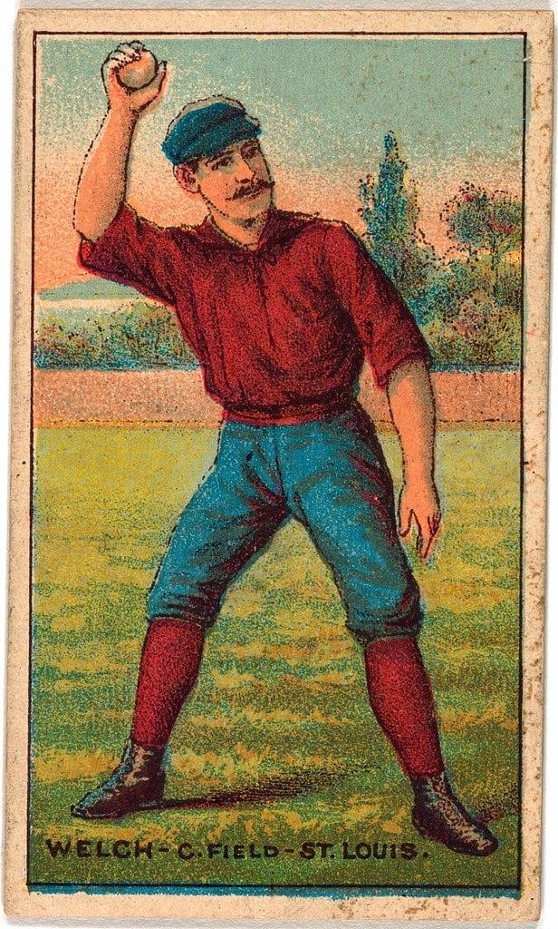 Curt Welch, St. Louis Browns, baseball card portrait 1887