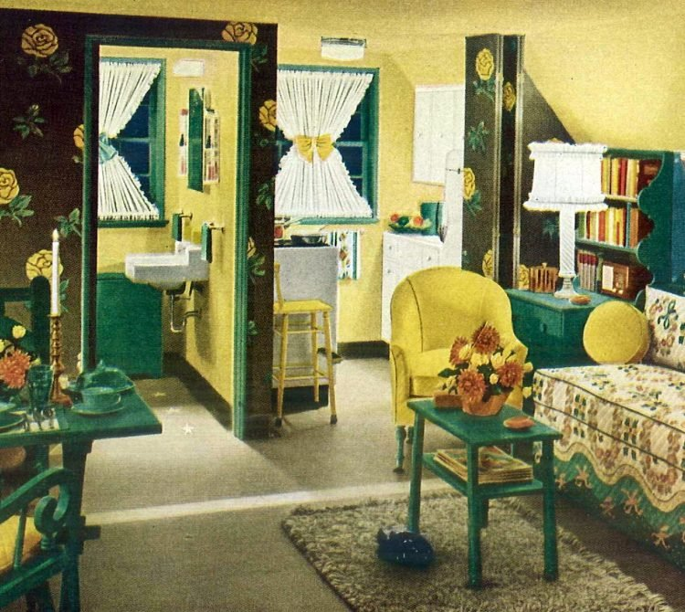 Vintage window coverings from the '50s