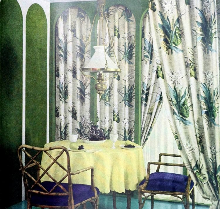 Curtains and window coverings from the 1950s (3)