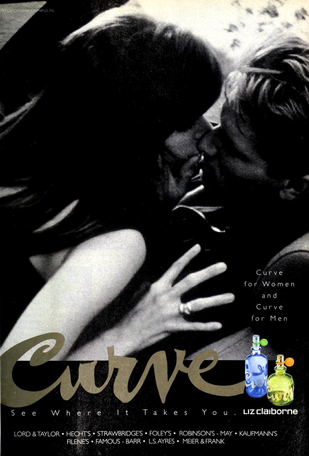 Curve for men and for women from Liz Claiborne (1995) at ClickAmericana com