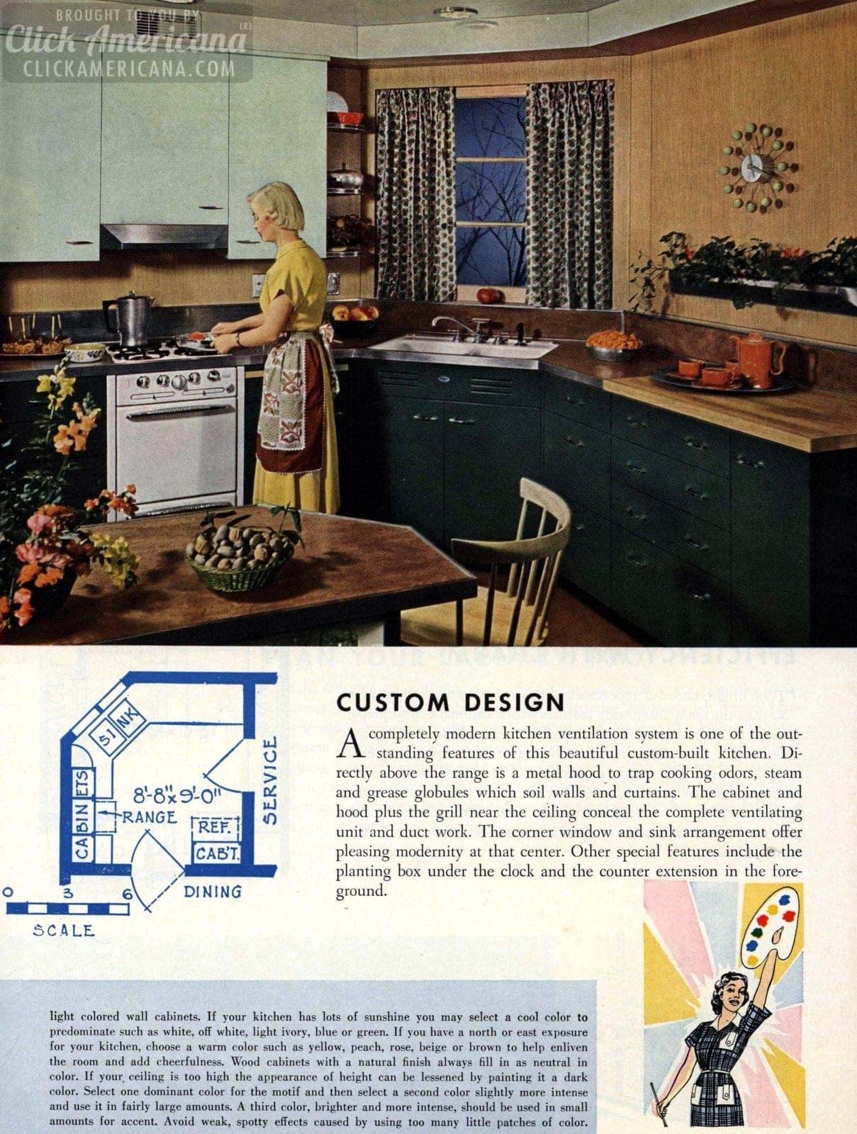 Custom design Remodeled kitchen design 1954