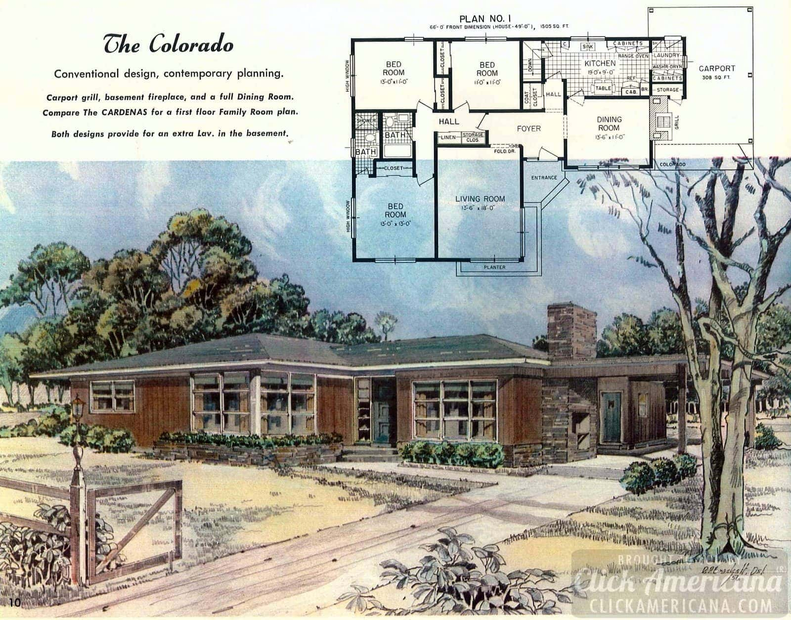 The Colorado: House design plans from the '50s