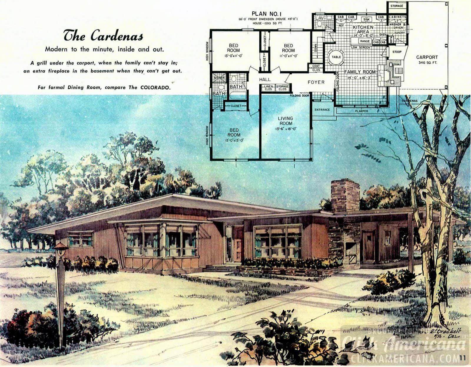 The Cardenas: Home design plans from 1958