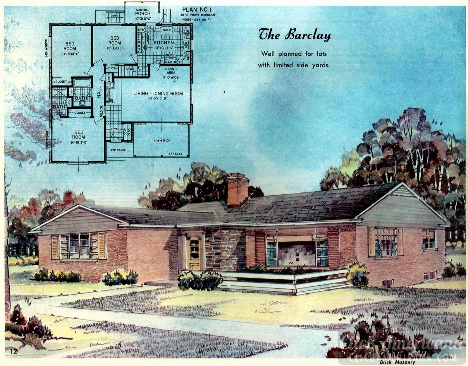 The Marsden: Home design plans from 1958