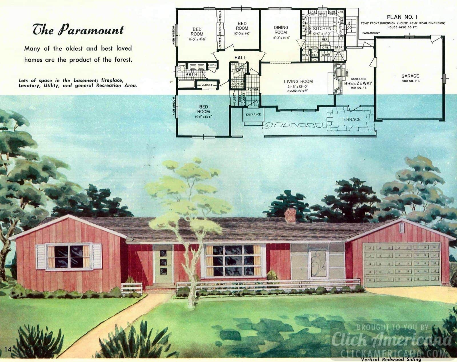 The Paramount: Home design plans from 1958