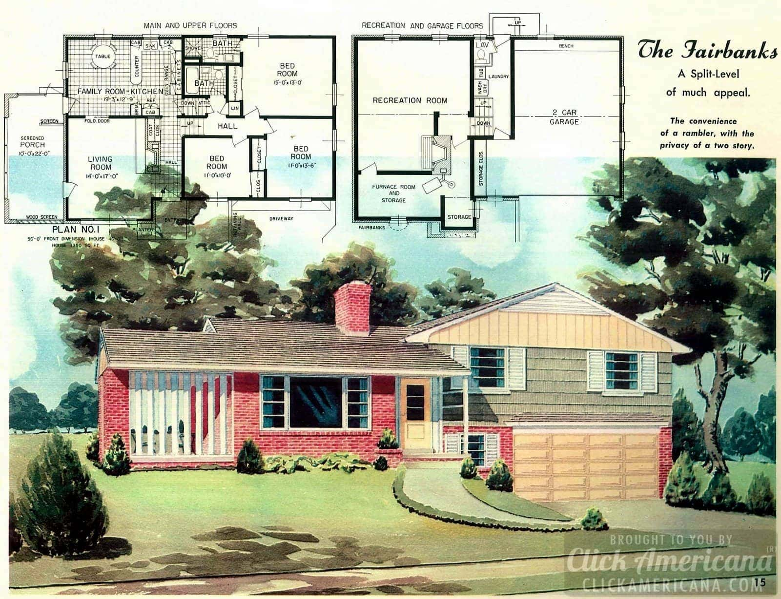 The Fairbanks: Home design plans from 1958