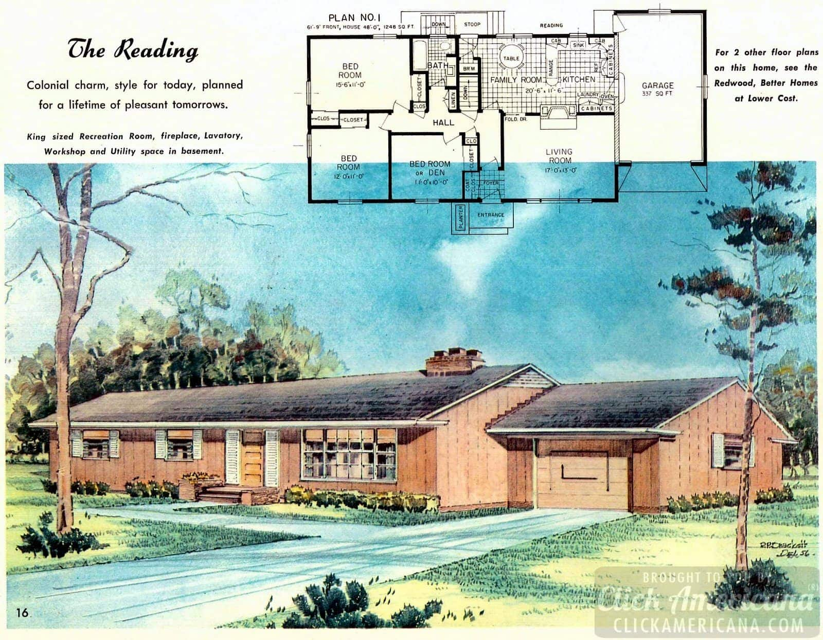 The Reading house: Home design plans from 1958
