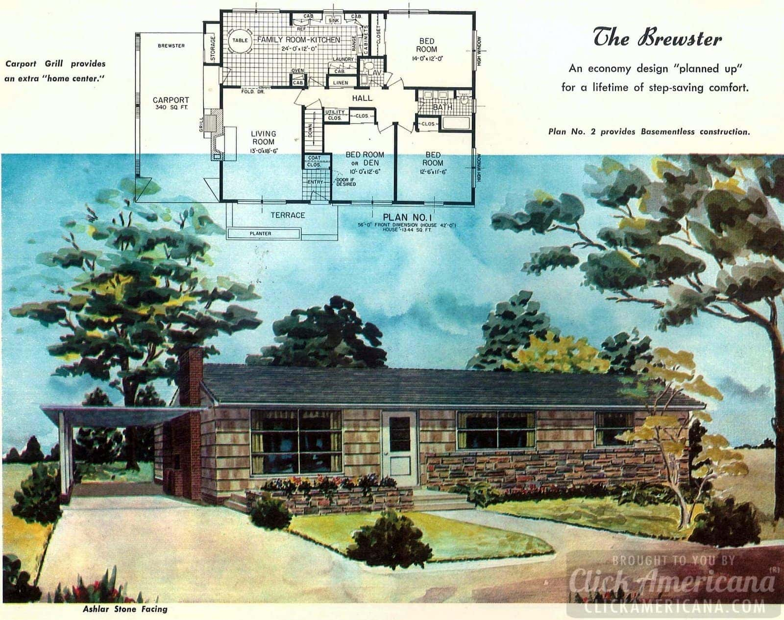The Brewster: Home plans from 1958