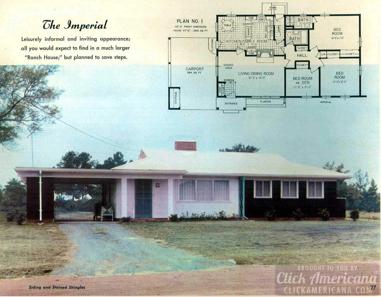 The Imperial: House design plans from the '50s