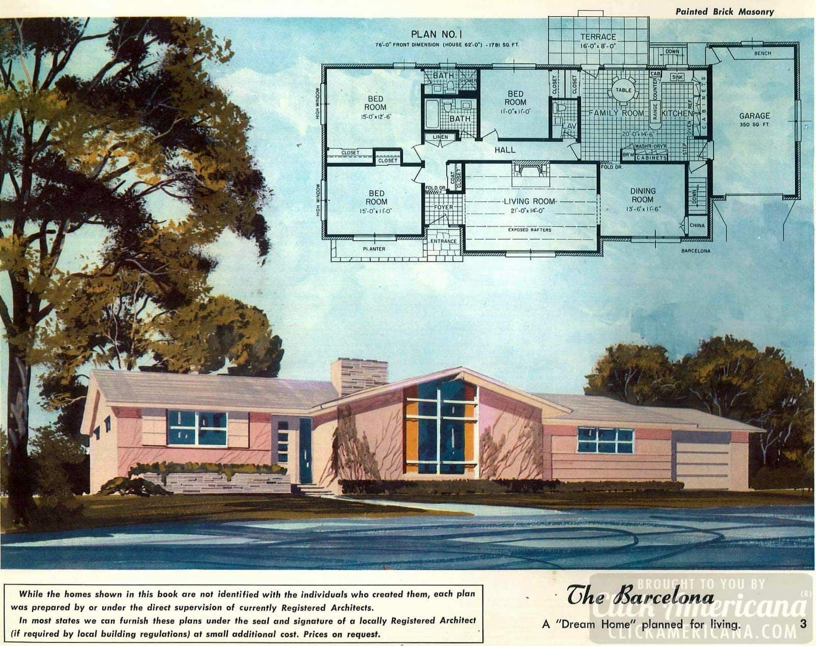The Barcelona dream home: House design plans from the '50s