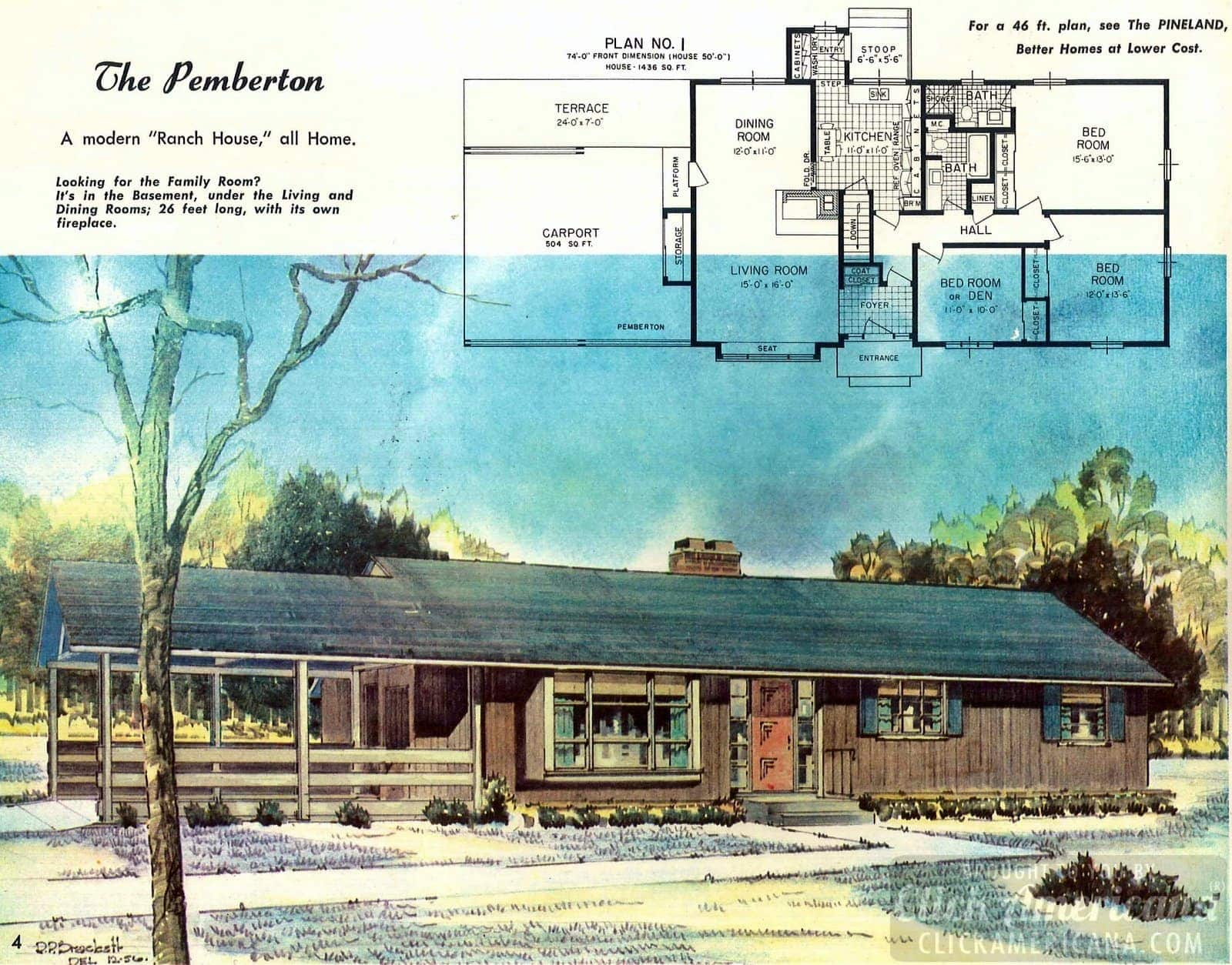 The Pemberton ranch house: Design plans from the '50s