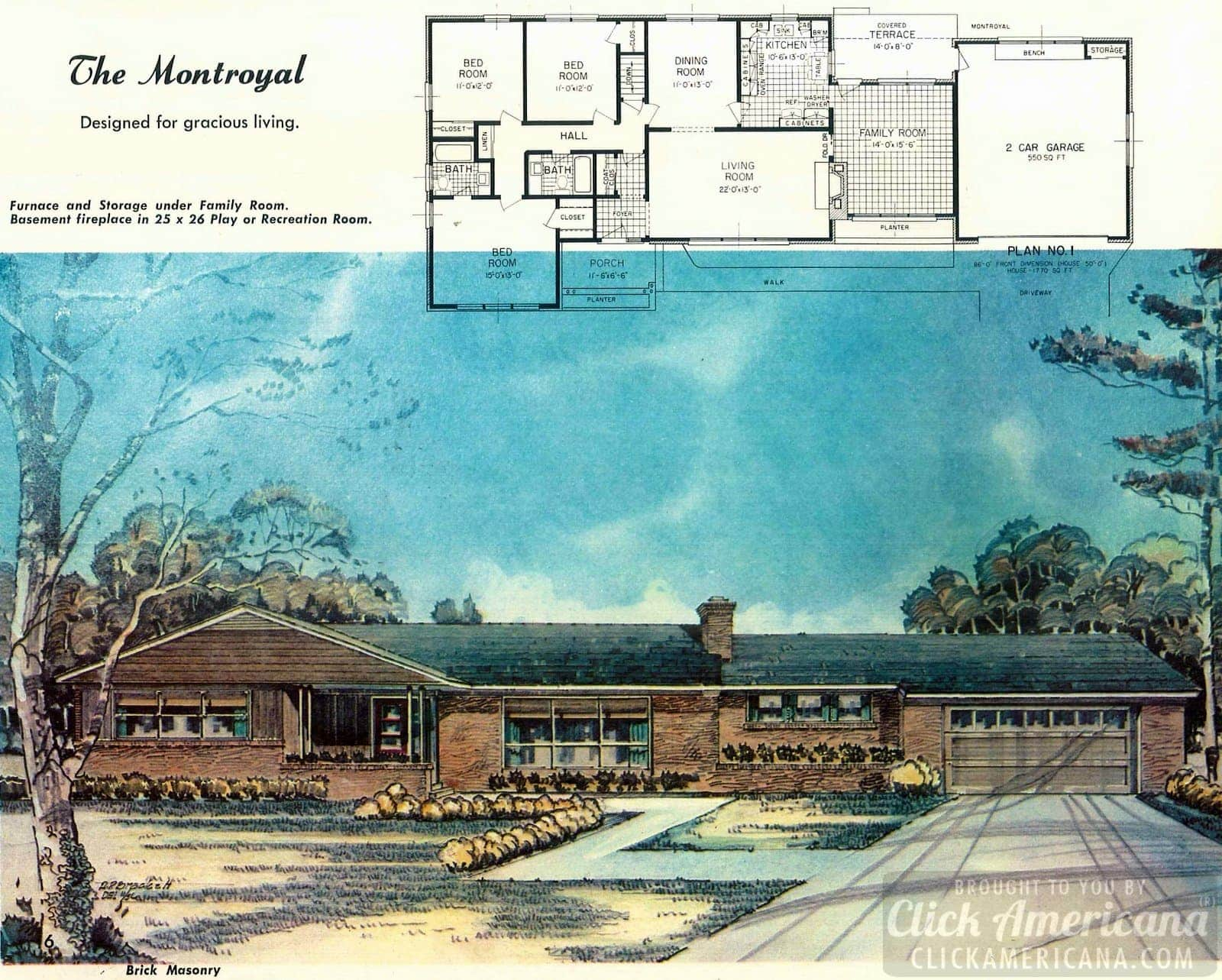 Residential design plans from 1958: The Montroyal