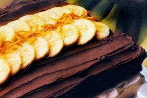 Customized chocolate banana cake