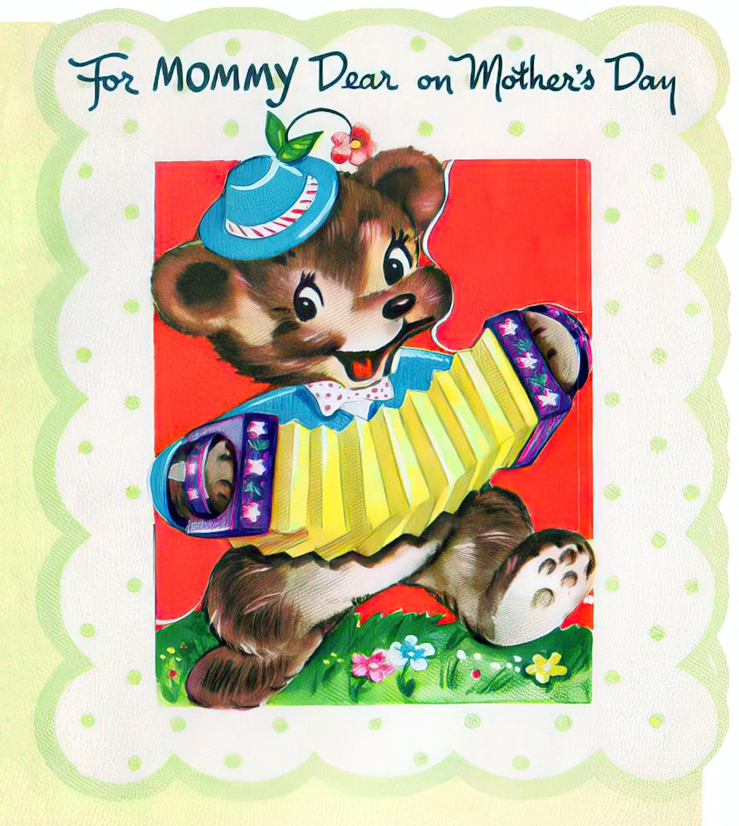 Cute bear - For mommy dear on Mother's Day (1951)