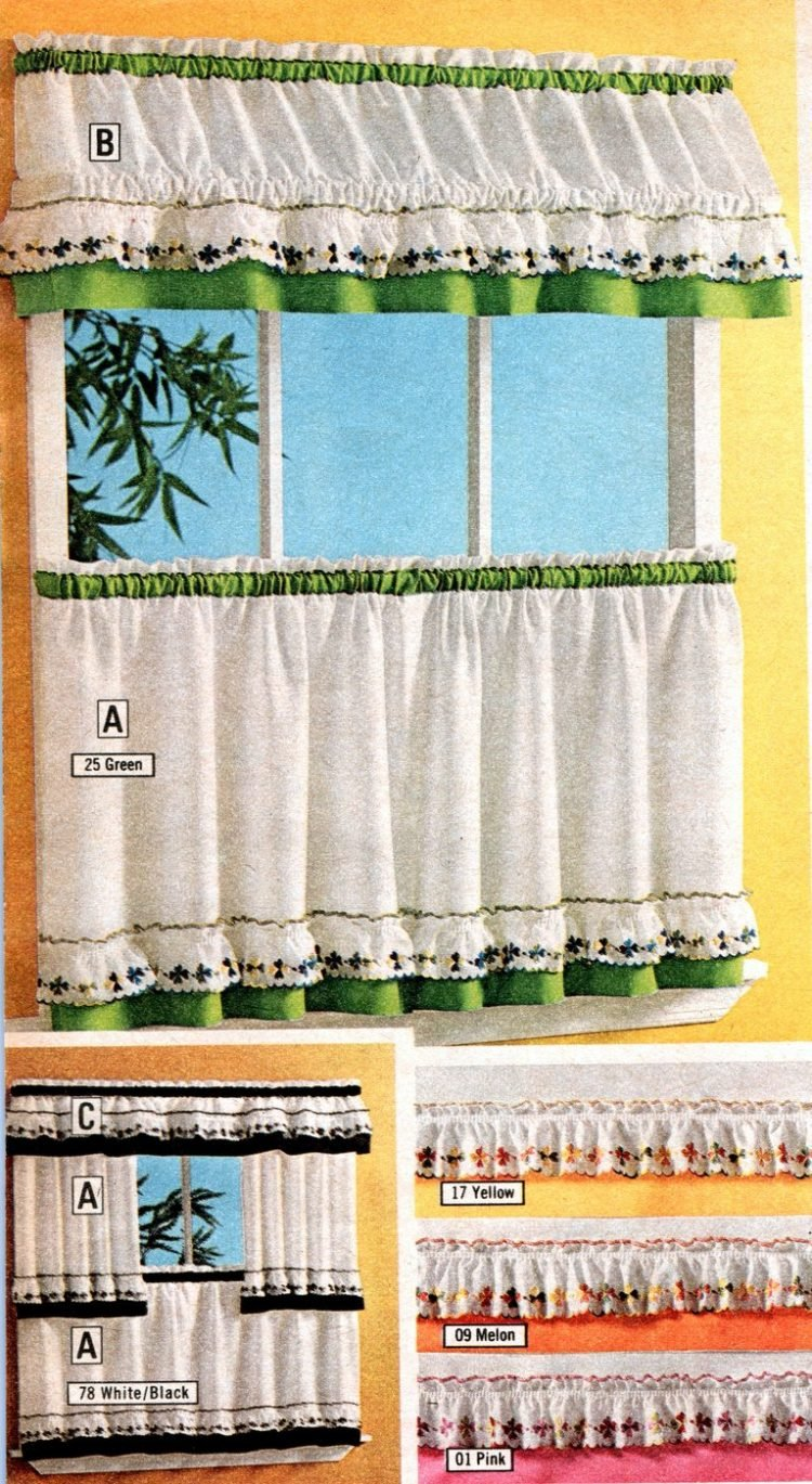 See 100 Short Retro Window Curtains Cafe That Were Essential 70s Home Decor Click Americana