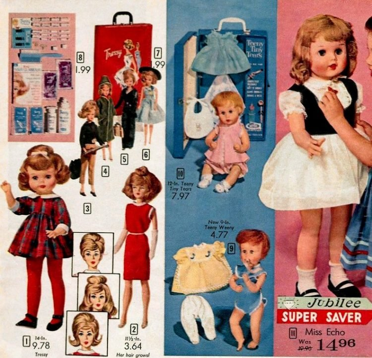 Cute dolls from 1964