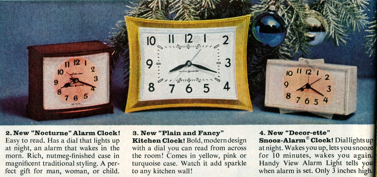 Cute home clocks from 1961