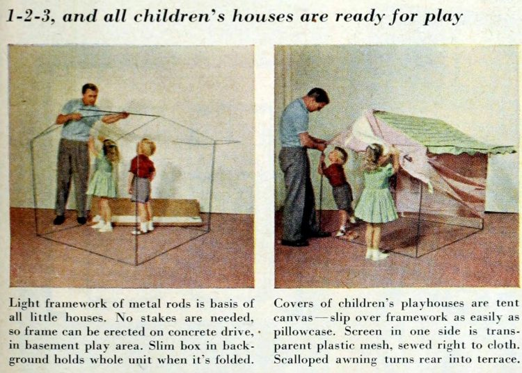 Cute pink playhouse for kids from the 1950s (2)